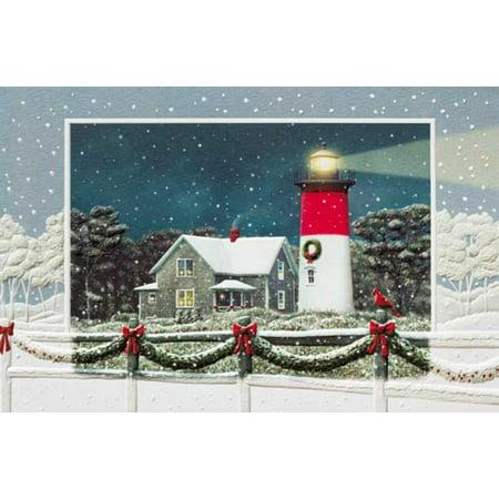 Pack of 16 nauset lighthouse fine art embossed deluxe christmas pack of 16 nauset lighthouse fine art embossed deluxe christmas greeting cards m4hsunfo