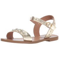 Steve Madden Womens Dancer Leather Open Toe Casual Ankle Strap Sandals