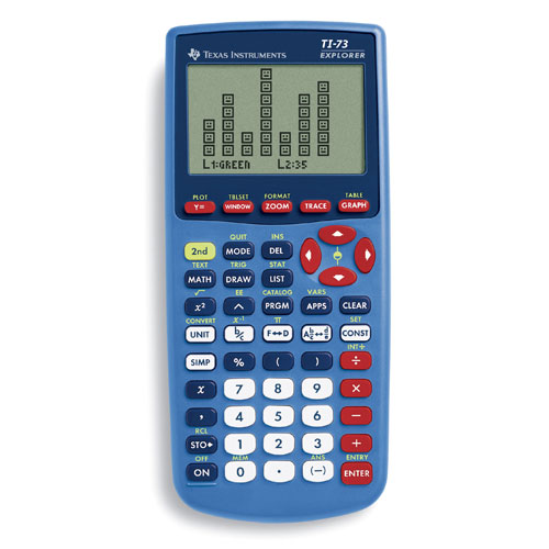 Texas Instruments TI-73 Explorer Graphing Calculator, Blue by Texas Instruments