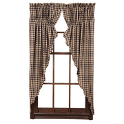 VHC Brands Check Curtain Panel Pair (Set of 2)