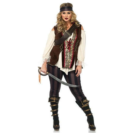 Leg Avenue Women's Plus Size Pirate Captain Costume](Cheap Plus Size Costumes 3x 4x)