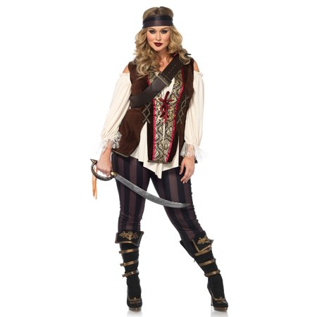 Mens Plus Size Pirate Costume (Leg Avenue Women's Plus Size Pirate Captain)