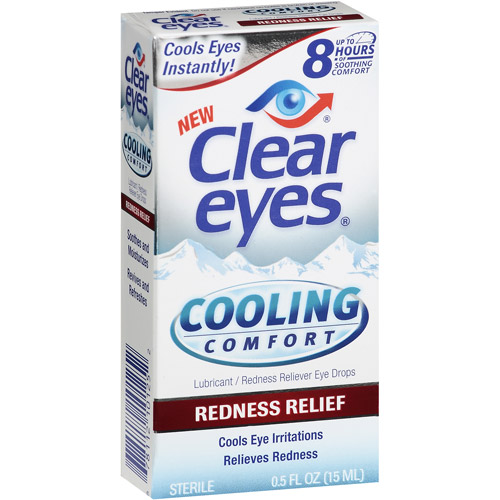 Clear Eyes Cooling Comfort Redness Relief Eye Drops, .5 oz