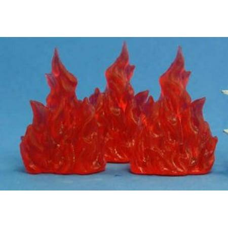 3 Channel Miniature - Reaper Miniatures Wall Of Fire (3) #77080 Bones Plastic D&D RPG Mini Figure