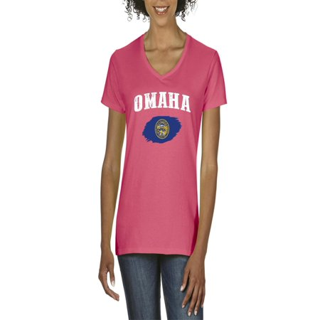 Omaha Nebraska Women's V-Neck T-Shirt Tee Clothes - Jobs In Omaha Nebraska
