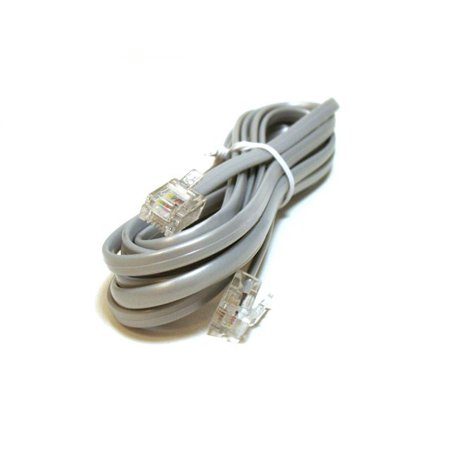 - Monoprice Phone Cable, RJ11 (6P4C), Straight - 7ft for data