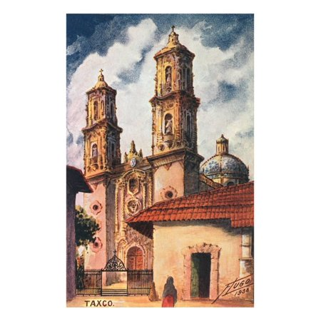Cathedral in Taxco, Mexico Print Wall Art