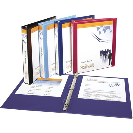 avery show off view binder with 1 round ring 12018 walmart com