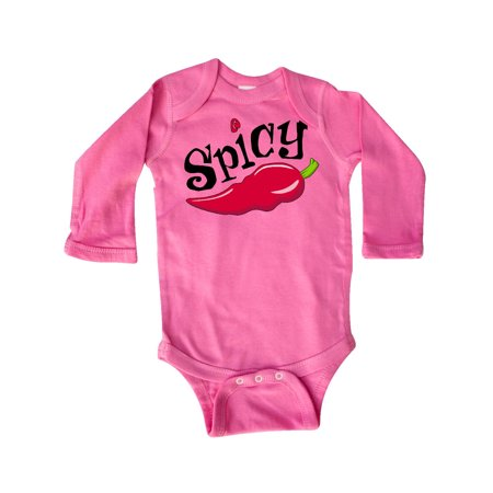 Red Hot Chili Peppers Baby Onesie (Spicy- hot chili pepper Long Sleeve)