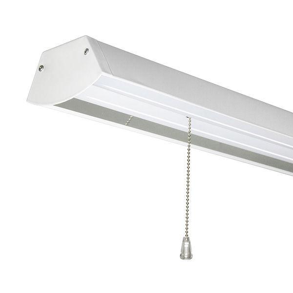 W Led 4 Ft Shop Light 4100k Cool White 120 277v White Finish Sunlite 04692 Su Walmart Com