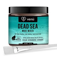 Organic Dead Sea Mud Face Mask - Face and Body Beauty Detox Treatment - Deep Skin Cleanser, Pore Reducer, Acne Clearer - Helps Remove Stretch Marks, Cellulitis and Wrinkles - by ven