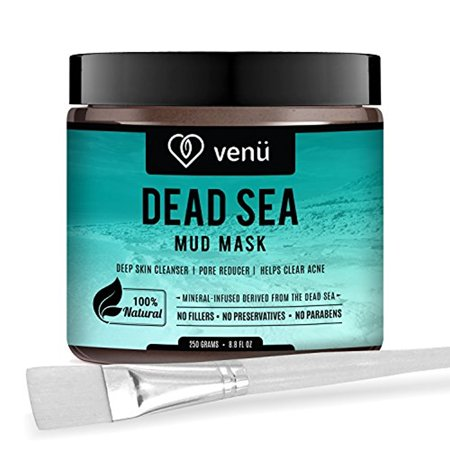 Organic Dead Sea Mud Face Mask - Face and Body Beauty Detox Treatment - Deep Skin Cleanser, Pore Reducer, Acne Clearer - Helps Remove Stretch Marks, Cellulitis and Wrinkles - by (Pca Detox Gel Deep Pore Treatment Reviews)