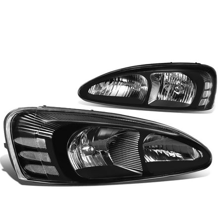 For 04-08 Pontiac Grand Prix Pair of Headlight Lamp (Black Housing / Clear Corner) - 7th gen FT1 GT2