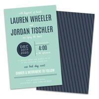 Personalized Typographic Wedding Invitations