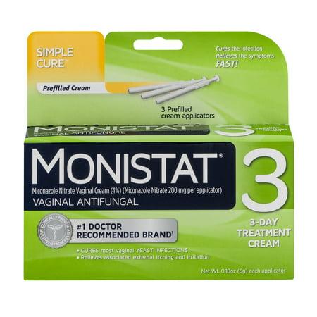 Monistat 3 Vaginal Antifungal 3 Day Treatment Cream Simple Cure  0 18 Oz