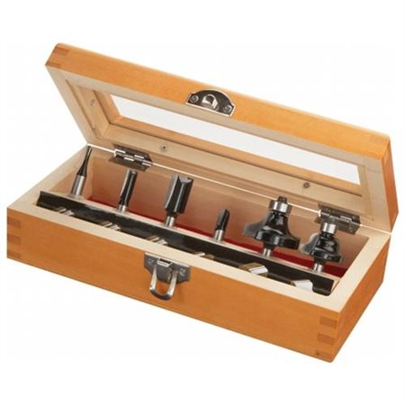 6 Piece Router Bit Set and Accessories  91006