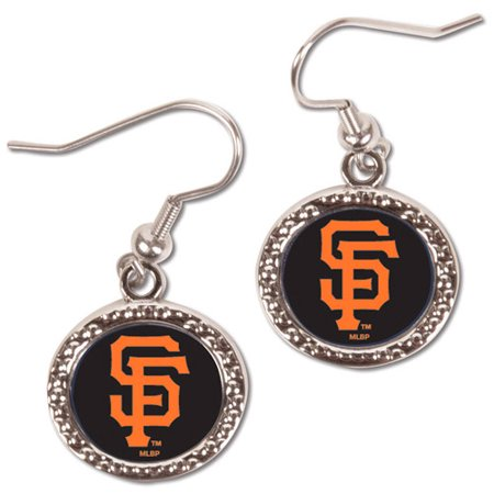 San Francisco Giants WinCraft Women's Round Dangle Earrings - Black - No - Giants Earrings