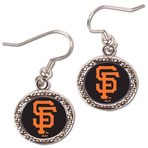San Francisco Giants WinCraft Women's Round Dangle Earrings - Black - No Size