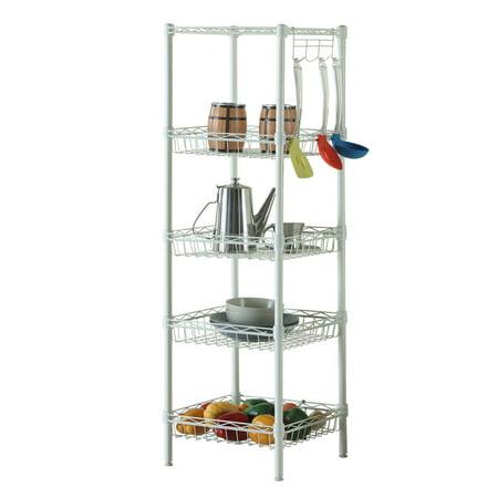 Ktaxon 5 Tier Wire Shelving Rack Shelf Adjustable Unit