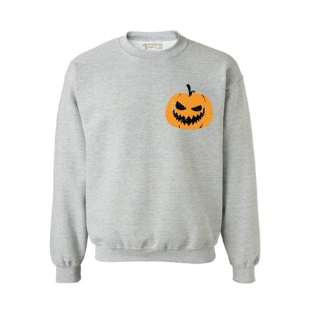 Awkward Styles Pumpkin Patch Sweatshirt Halloween Sweater for Men Halloween Gifts for Women Halloween Pocket Sweatshirt Spooky Outfit Jack-O'-Lantern Pocket Sweater Scary Pumpkin Face Sweatshirt