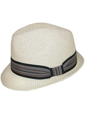 7a94747c68c53 Product Image Size one size Women s Paper Straw Fedora with Striped  Hatband