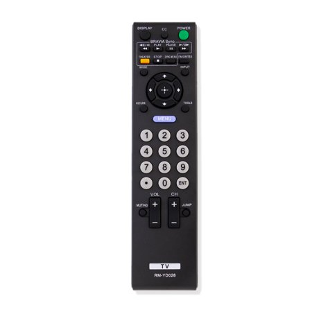 New RM-YD028 Replaced Remote Control compatible with Sony Bravia KDL-40S504 KDL46S5100 KDL32XBR9 (Bravia Remote Control)