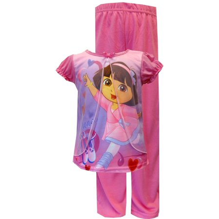 Monkey Pink Girls Pajamas - AME Sleepwear Little Girls' - Dora Purple Pajamas