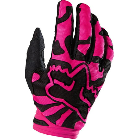 2016 Dirtpaw Women's MotoX Motorcycle Gloves - Black/Pink / X-Large, Padded clarino palm By Fox Racing from USA