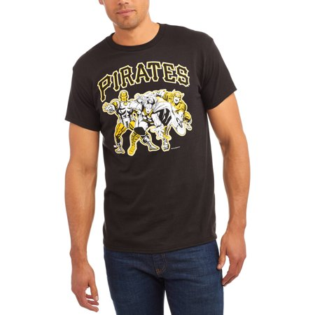 Pirate Skull Baseball Jersey - MLB Pittsburgh Pirates Men's Marvel Super Hero Tee