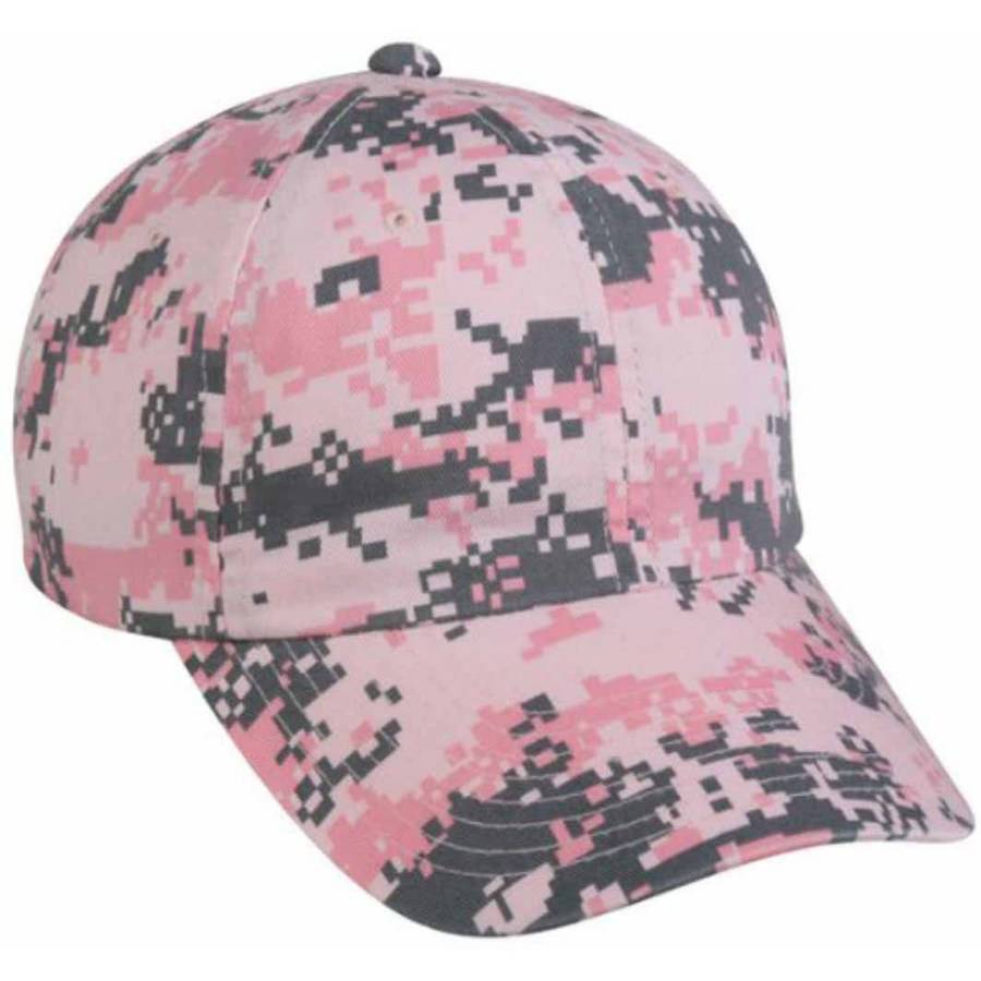 Outdoor Cap Digital Camouflage Unstructured Hat, Pink