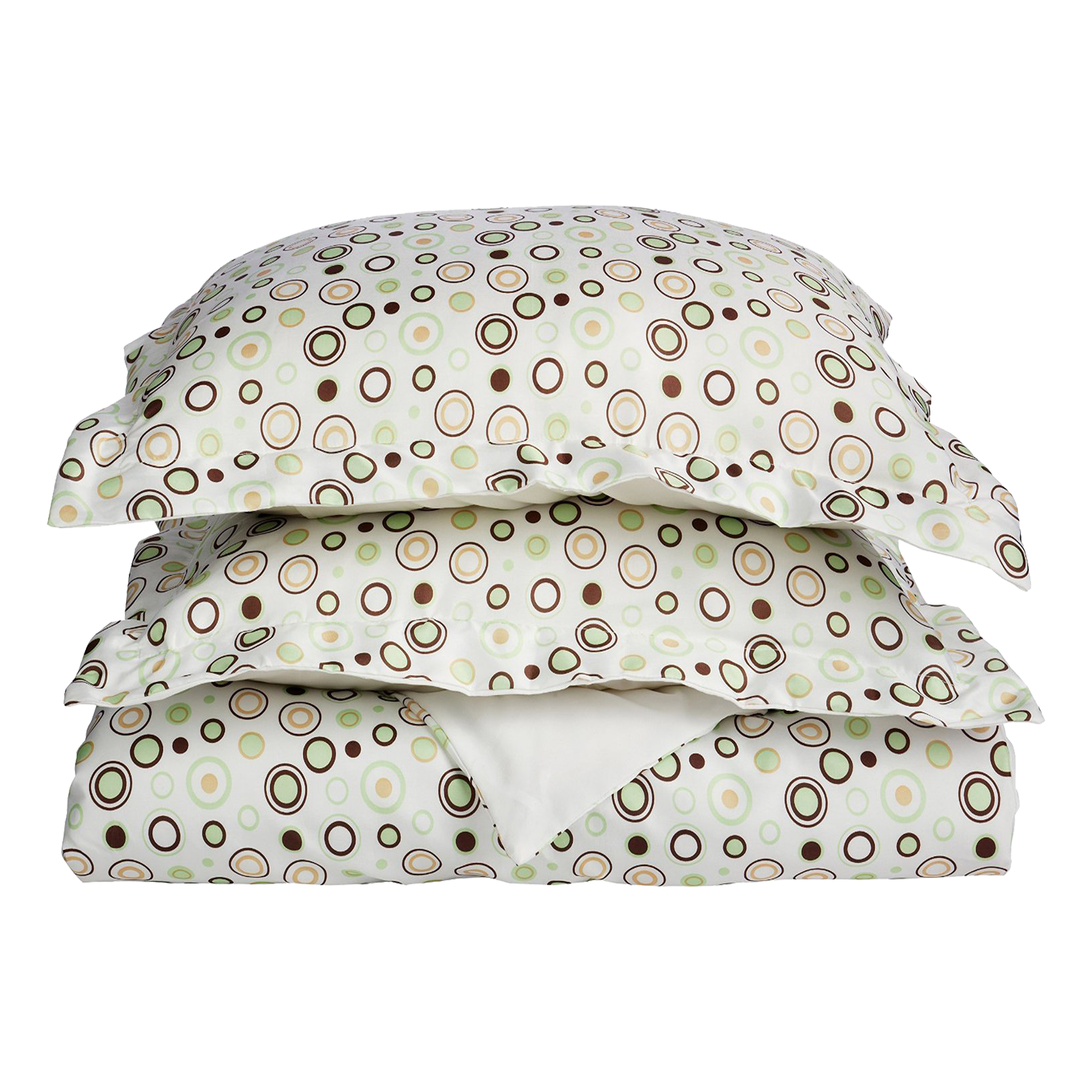 Superior Light Weight and Super Soft Brushed Microfiber, Wrinkle Resistant Printed Duvet Cover Set with Circles