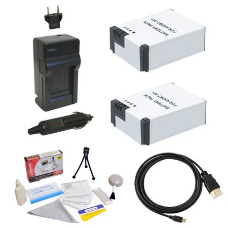 GoPro HD Hero3 3+ Accessory Kit with (2x) Extended Batteries, AC/DC Battery Charger, HDMI to Micro HDMI Cable and Cleaning