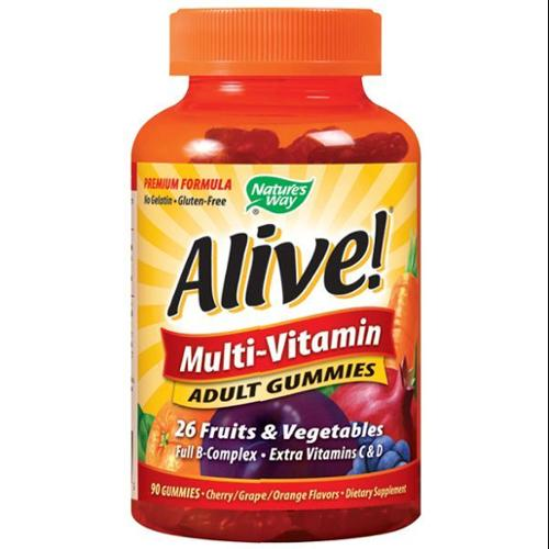 Alive Adult  Multi-Vitamin Gummy Nature's Way 90 Gummy