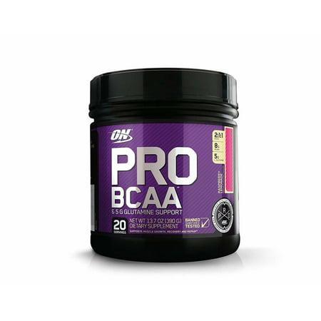 Optimum Nutrition Pro BCAA Powder, Raspberry Lemonade, 20 Servings