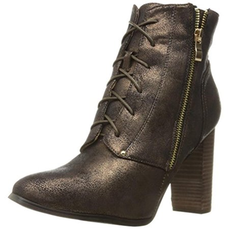 Womens Olygmala Shimmer Stacked Ankle Boots