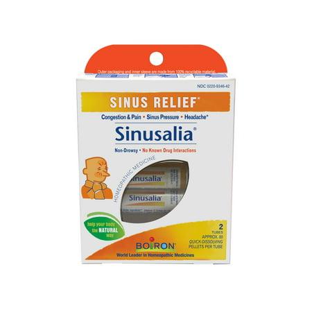Boiron Sinusalia Sinus Relief Pellets, 2 Tubes