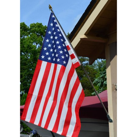 Valley Forge Flag All American Series 3' x 5' Polycotton US American Flag Kit with 6' Steel Pole and Bracket
