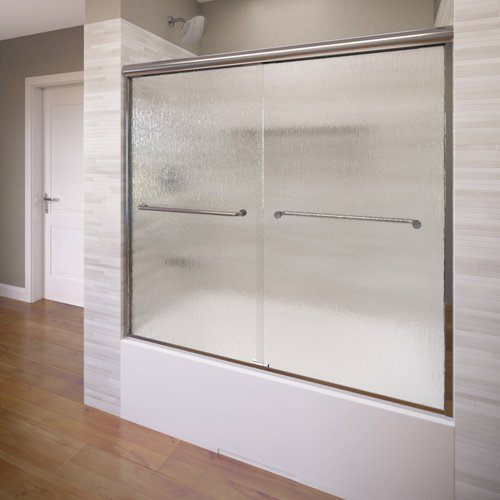 Basco Infinity 58.5'' x 57'' Frameless Bypass Sliding Tub Door