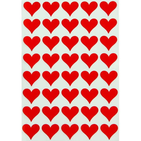 Heart Shaped Stickers, Red Hearts Envelope Seals , One size, Royal Green - 200 pack](Envelope Seals)