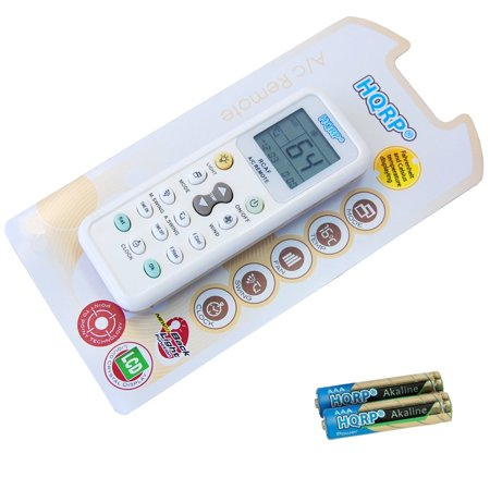 HQRP Universal A/C Remote Control for RIJIANG ROWA SACON SAMSUNG SANYO NEC  SANZUAN SAPORO SAST SENSOR SAN-KEY Air Conditioner / Fahrenheit displaying