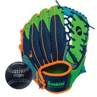 "Franklin Sports 9.5"" Teeball Meshtek Glove & Ball Set, Multiple Sizes/Color"