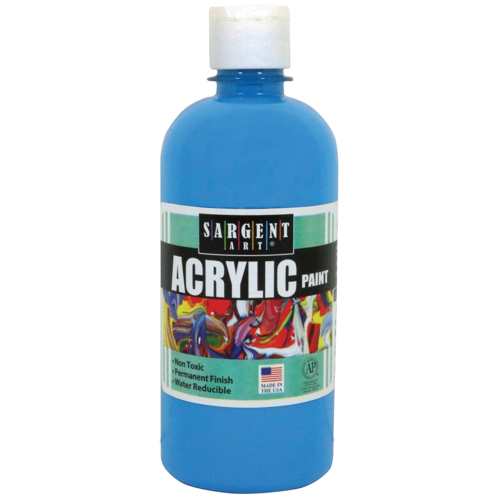 Sargent Art® Acrylic Paint, 16 oz. Squeeze Bottle, Turquiose, 3/pkg