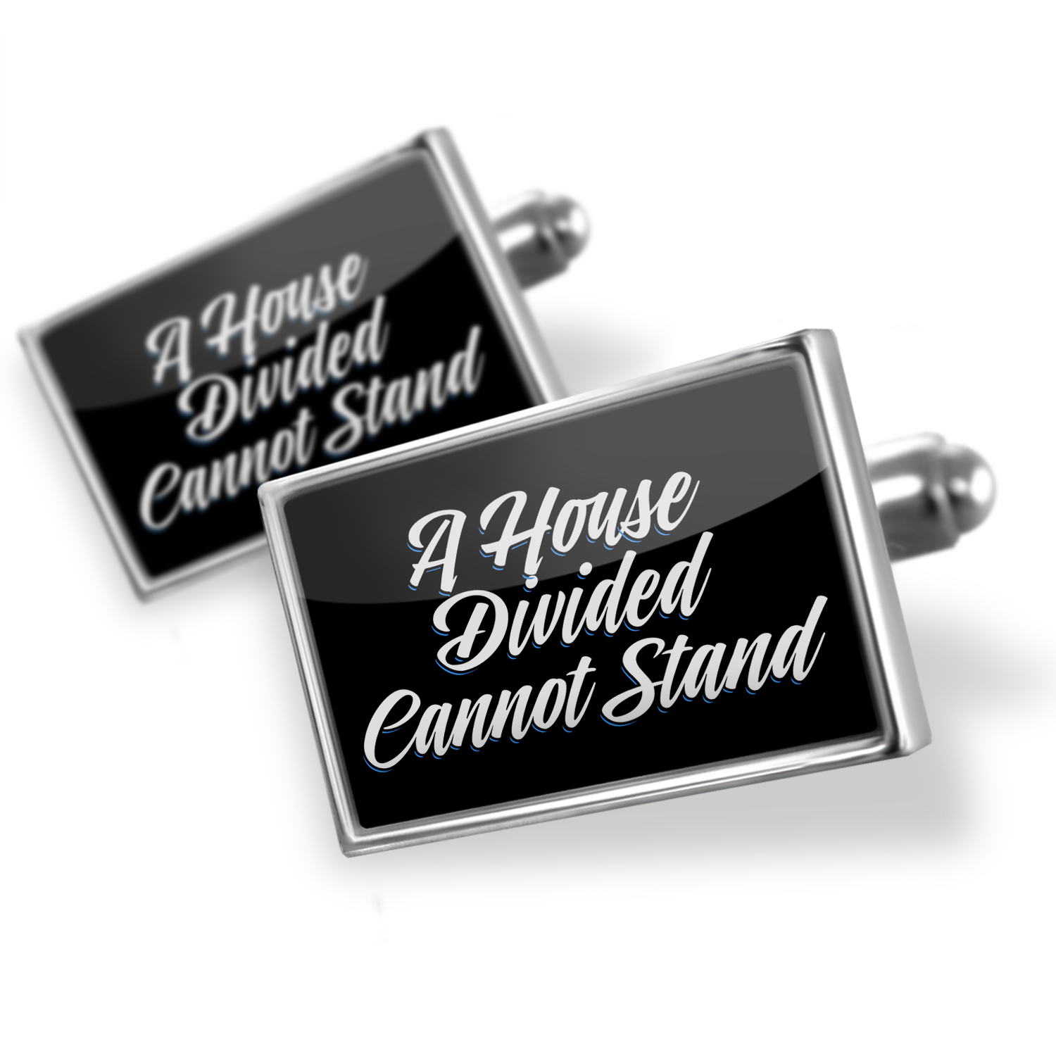 Cufflinks Classic design A House Divided Cannot Stand - NEONBLOND