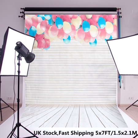 5x7ft Lovely Ballons Digital Studio Backdrops Photography Photo Background Props - image 2 of 5