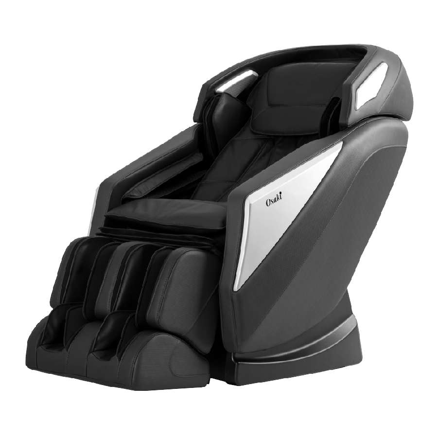Osaki OS-Pro Omni L-Track Massage Chair with Foot Roller, 2 Stages of Zero Gravity, Black