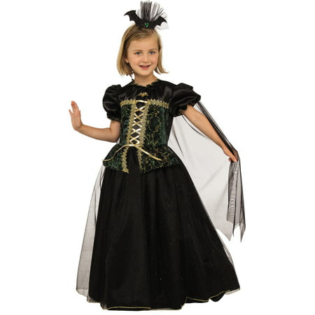 Princess Battina Girl Child Vampire Witch Bat Gown Halloween Costume](Kids Vampire Costumes For Girls)