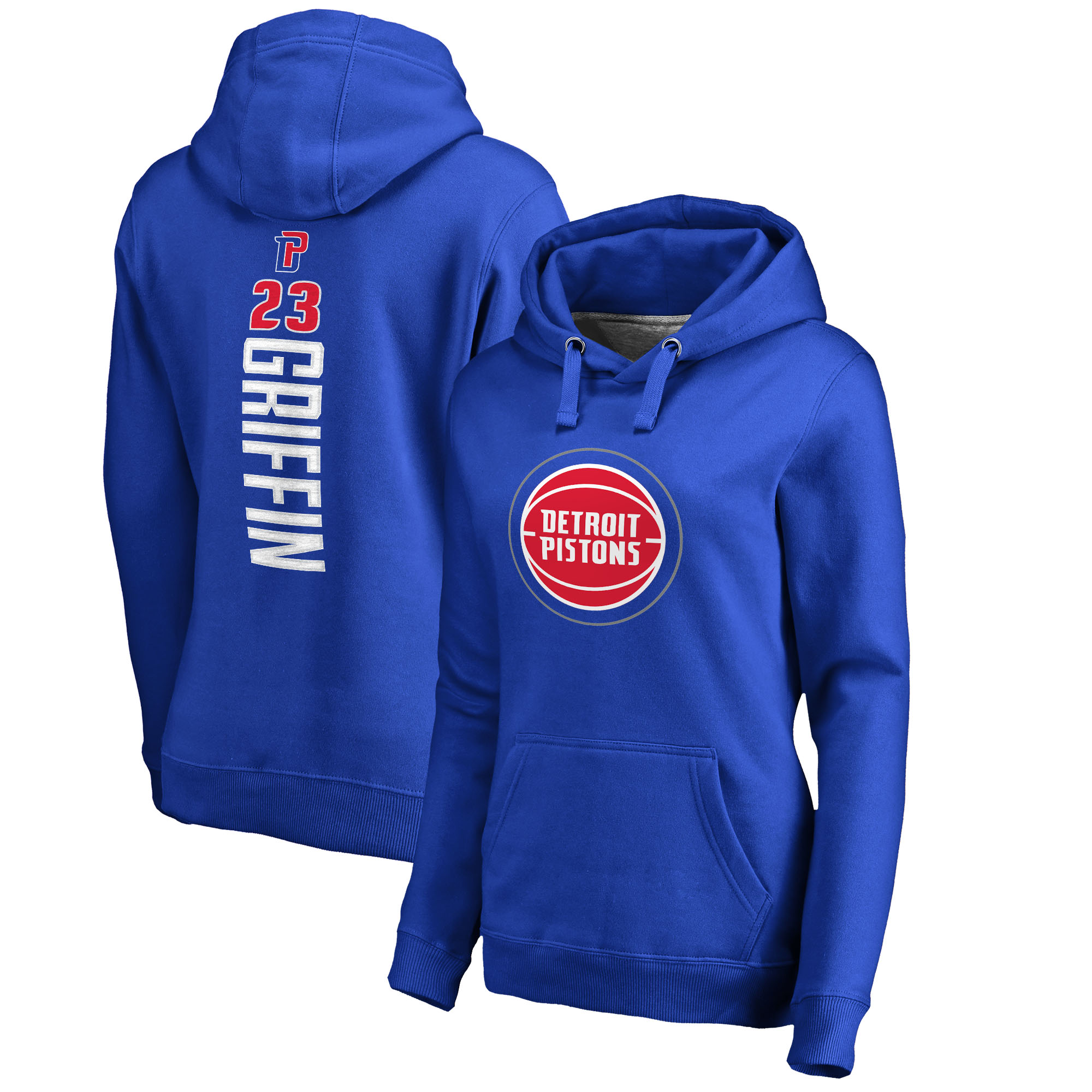 Blake Griffin Detroit Pistons Fanatics Branded Women's Backer Pullover Hoodie - Royal