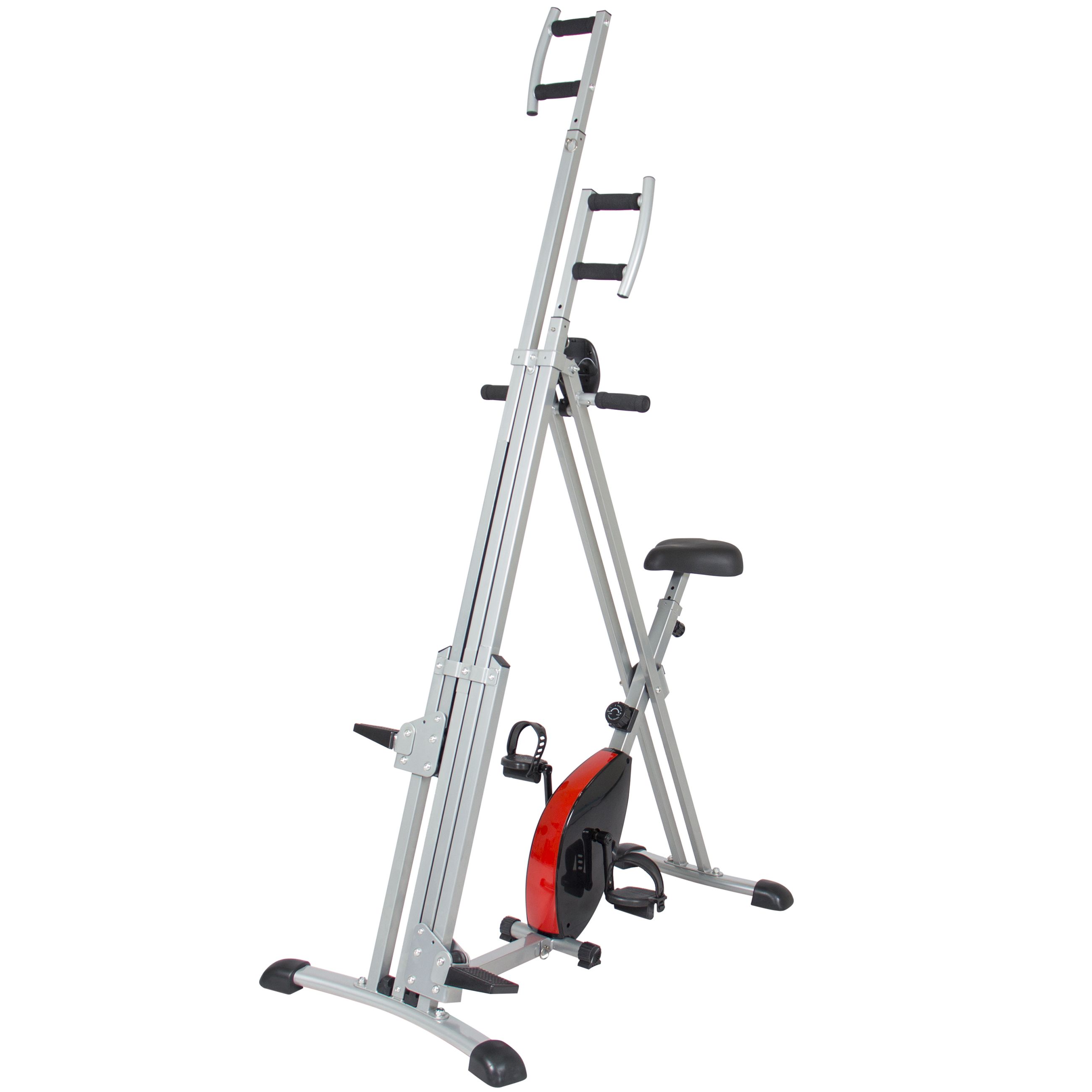 Best Choice Products Total Body 2-IN-1 Vertical Climber Magnetic Exercise Bike Fitness Machine by