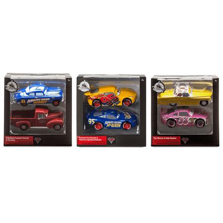 Rust-eze Cruz Ramirez + Fabulous Lightning McQueen / Hudson Hornet + Smokey / Tex Dinoco + Reb Meeker - Die-Cast Twin Pack (Cars Set of 3) - Disney Pixar Movie Merchandise Character Toy Collectible - Disney Cars Movie