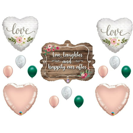 Wedding Rustic Boho Bridal Shower Balloons Decoration Supplies Rose Gold - Balloons For Bridal Shower